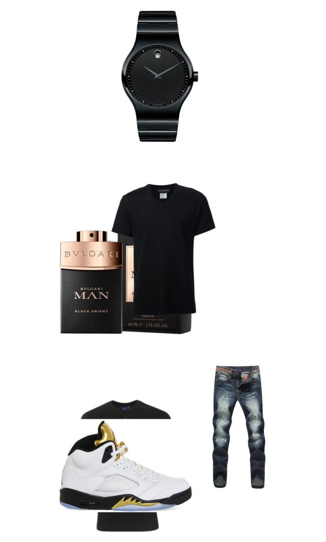 """""""messed up doe"""" by duwayne513 ❤ liked on Polyvore featuring adidas, Movado, NIKE, Neil Barrett, men's fashion and menswear"""