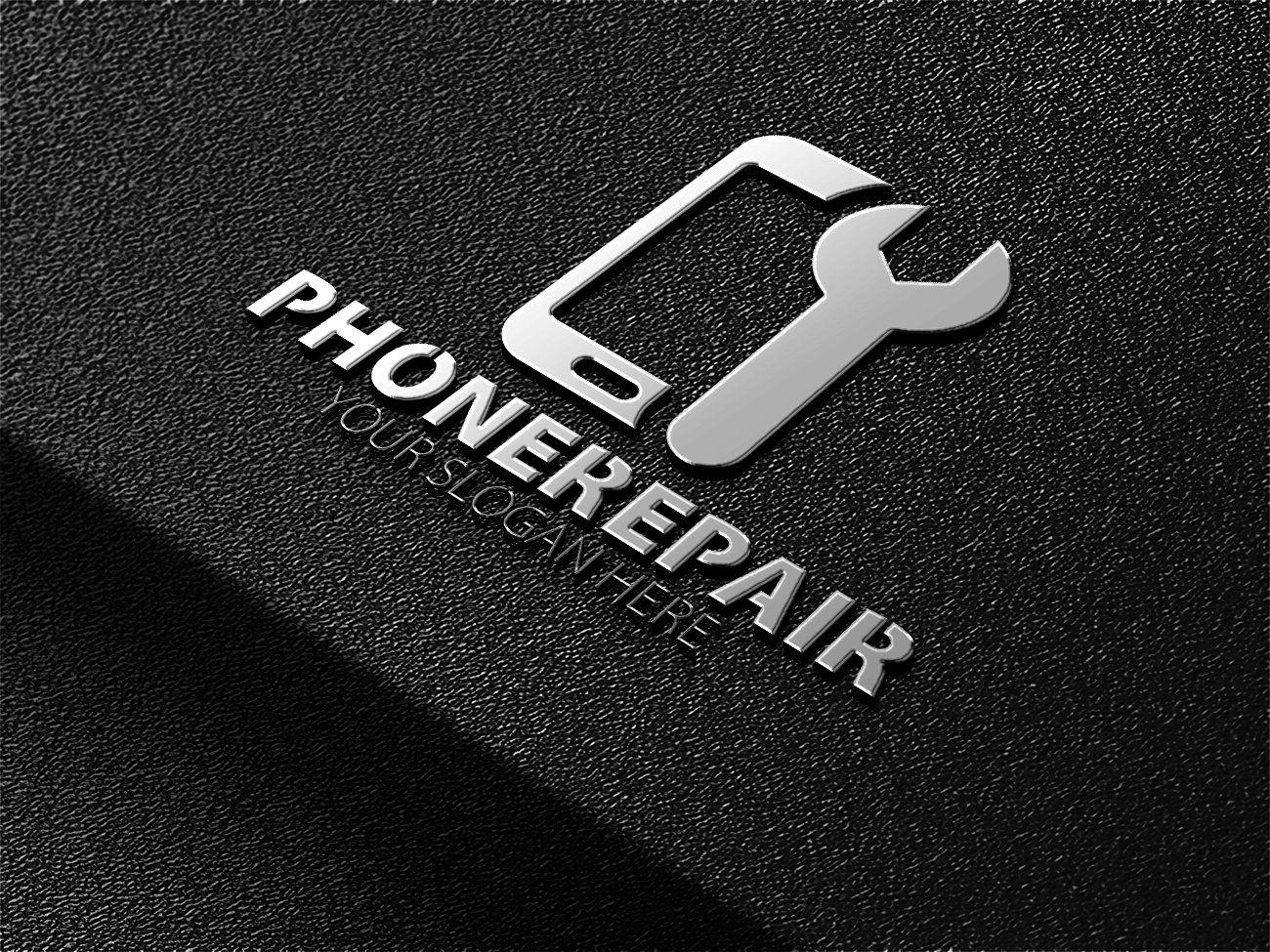 Phone Repair Logo Графический дизайн, Дизайн визитной