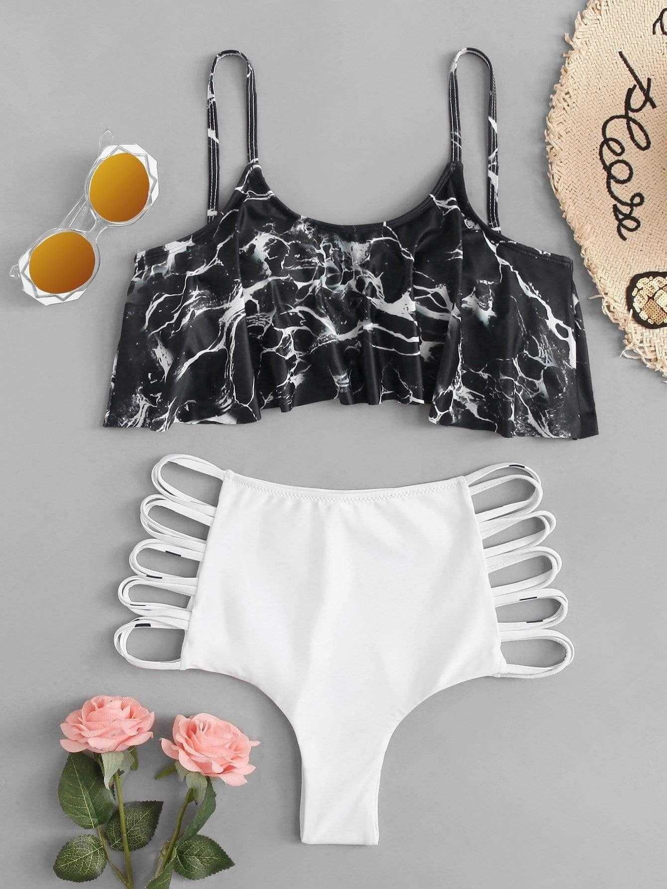 28563c343dc1a Pin by My Bikini Flex on Flounce in 2019   Bikinis, Marble print ...