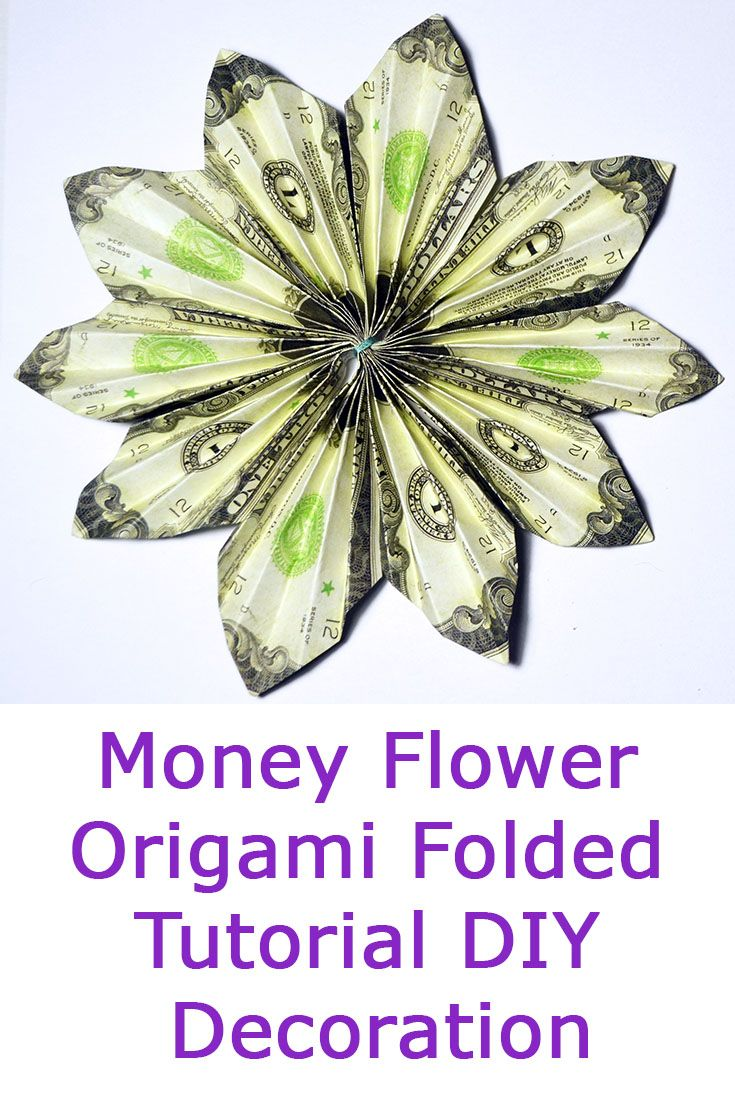 Quick Money Flower Origami Dollar Folded Tutorial Diy Decoration Do