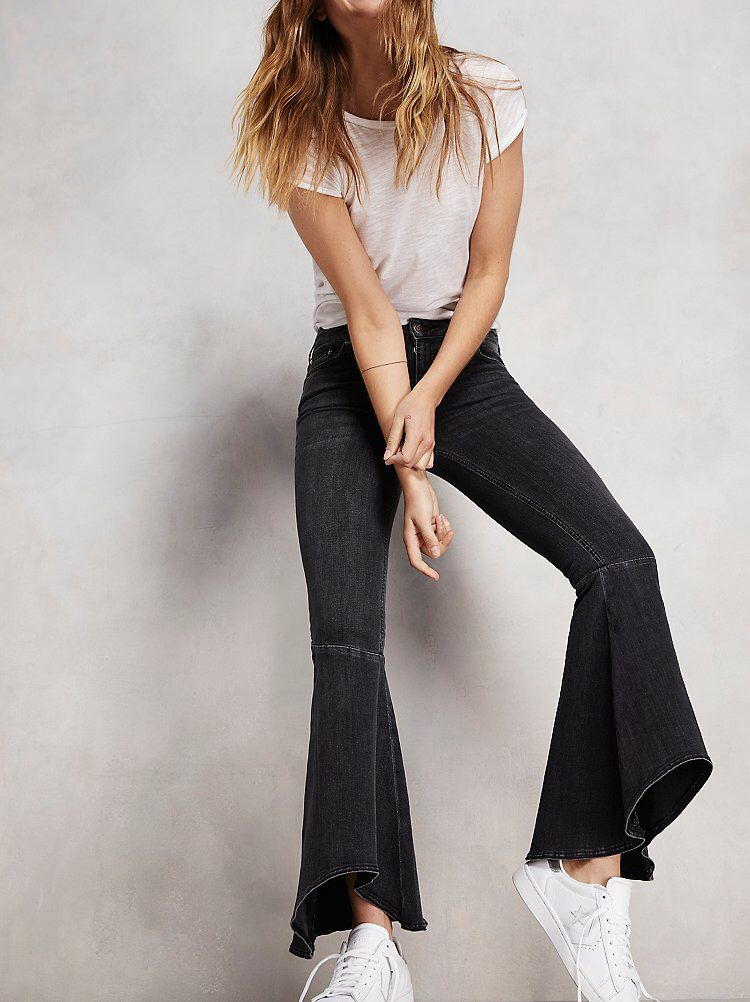 Ruffle Denim Flare from Free People!