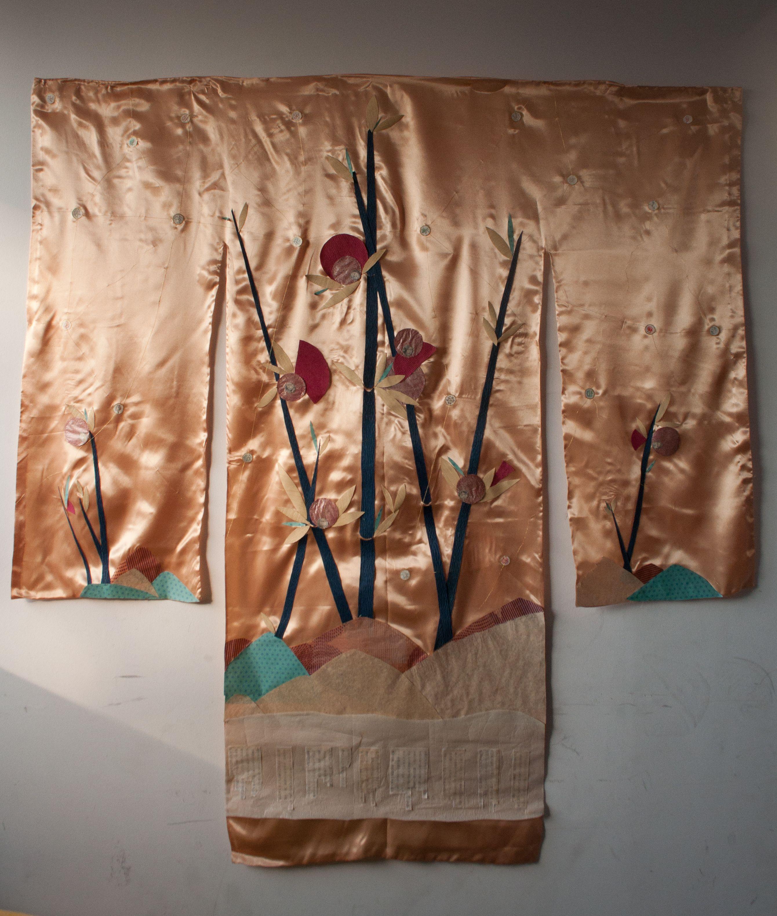 Terakawa. Obra de Alejandra Correa. Raso, papel.