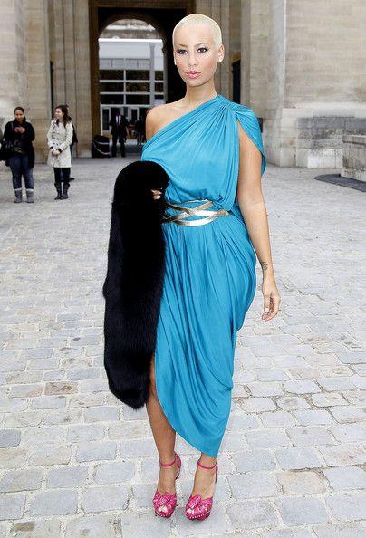 Amber Rose One Shoulder Dress Fashion Amber Rose Dresses