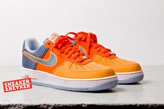 Nike Damen Air Force 1 High WeißOrange 334031 109