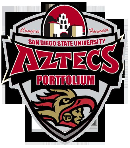 Check Out The New Sdsu Portfolium Campus Founder Sticker Sdsu Aztecs