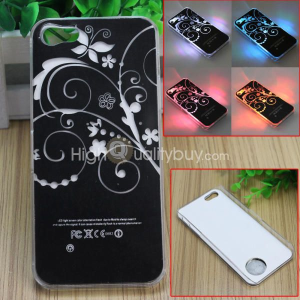 For Apple iPhone 5 Sense Flash LED Color Change Flower Case Cover . $4.78. Features: 100% brand new and high quality The case can flash when calling, answering, sending or receiving messages. The battery's anode should be put downward, and cathode upward Protect your phone from scratches, dusts and impact Easy to install and remove  Specification: Material: Plastic Color: As the picture shows Power Supply: 1x CR2016 button battery Size: Approx. 4.92*2.36*0.39inch/12.5*6*1cm Package…