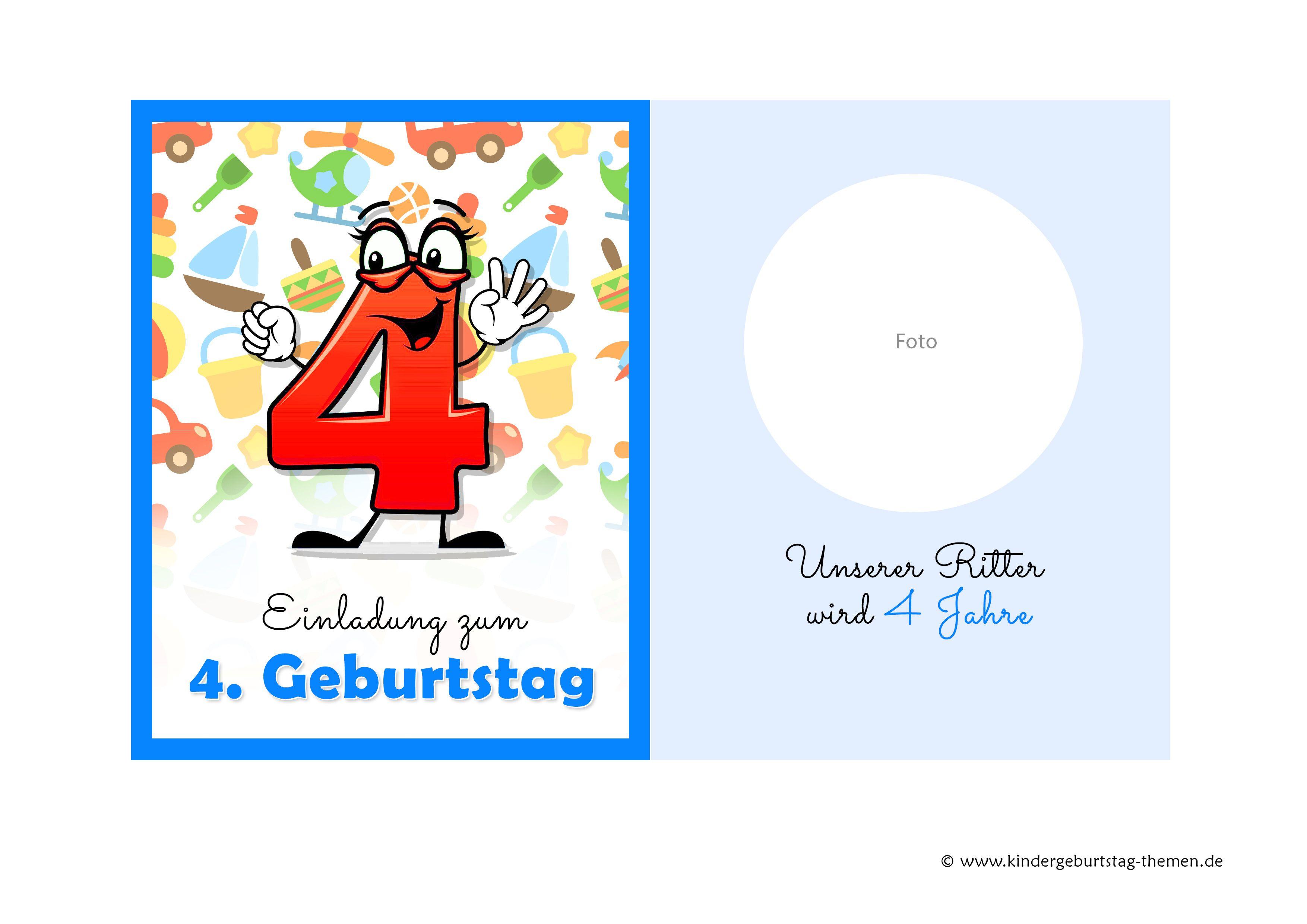 Einladung 4 Geburtstag Kostenlose Vorlagen Zum Ausdrucken Einladung Geburtstag Einladung Kindergeburtstag Text Einladung Kindergeburtstag
