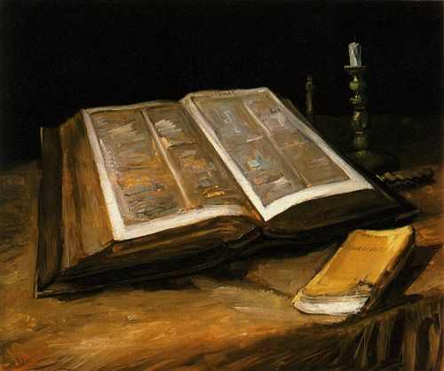 VINCENT VAN GOGH. Still Life with Bible, 1885, oil on canvas.