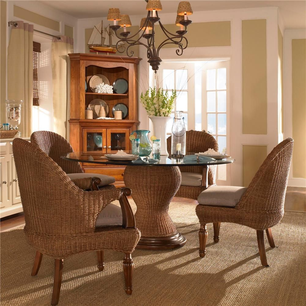 American Journal 5-Piece Natural Seagrass Dining Set By