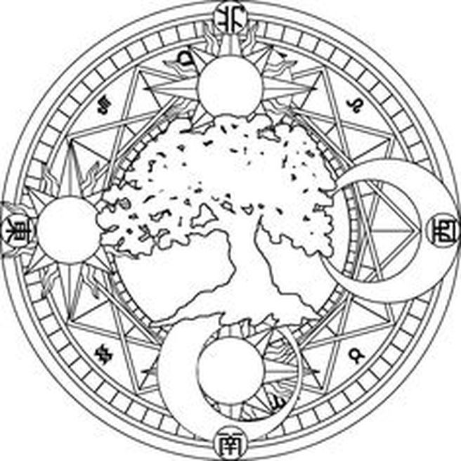 witch mandala coloring pages - photo#20