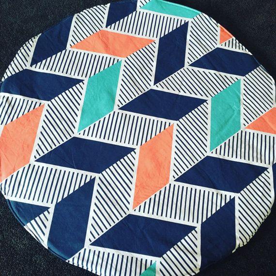 ROUNDIE HERRINGBONE PLAYMAT round baby play mat by COTSandKNOTS