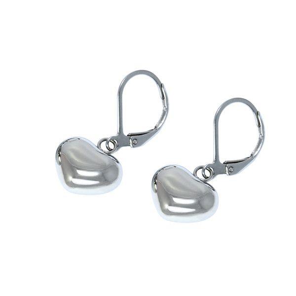 Náušnice klipsy z chirurgické oceli srdce - koupit online na Glara.cz   glara   368e968162b