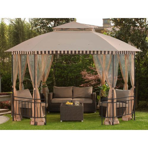 Meijer 10 Ft W X 12 Ft D Metal Patio Gazebo Backyard Gazebo