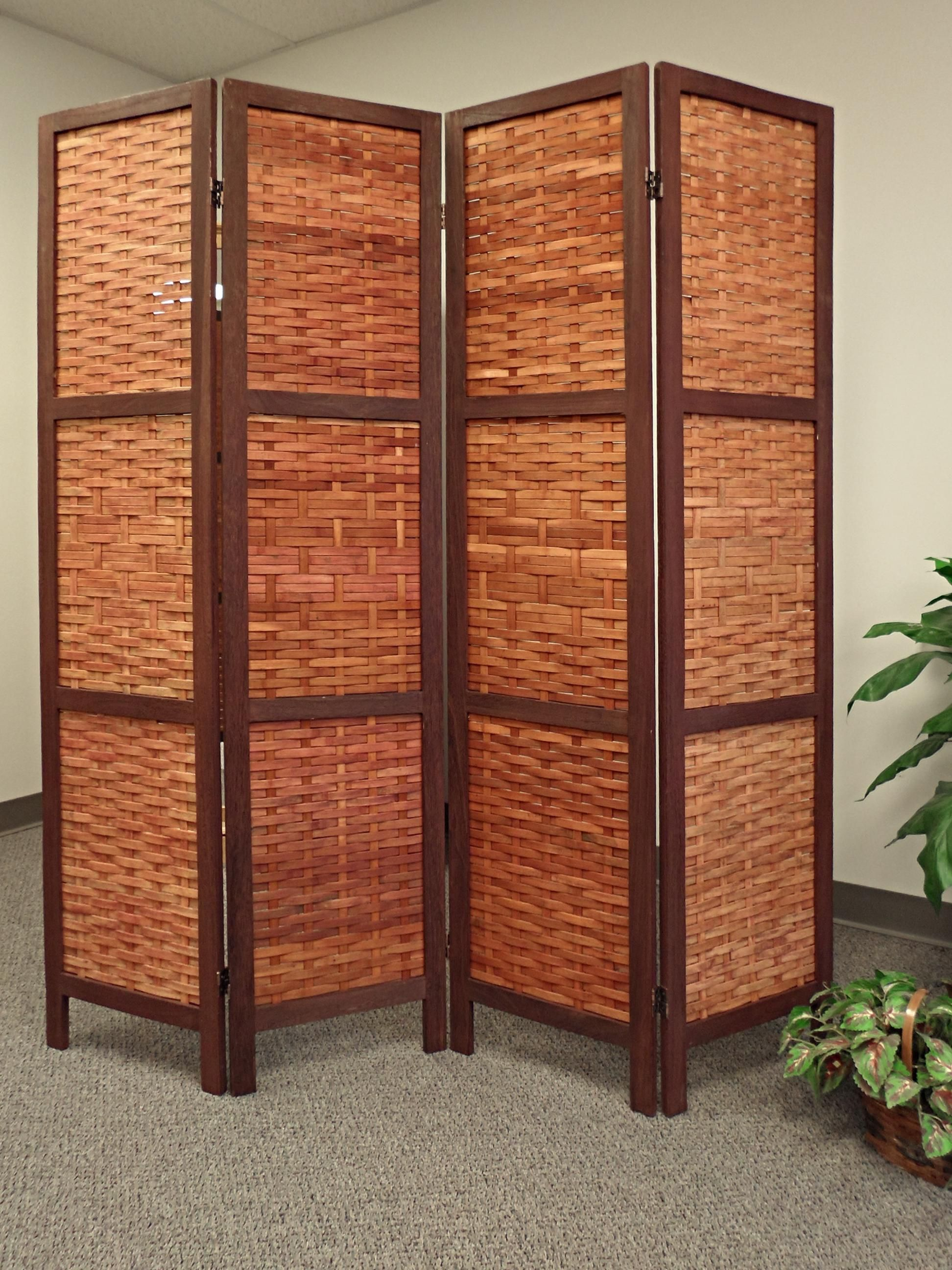 Saigon bamboo folding screen walnut color インテリア pinterest