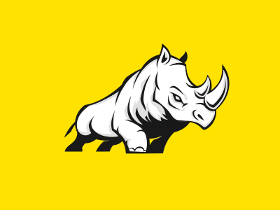 Seoceros   Rhino logo, Animal logo, Logo design