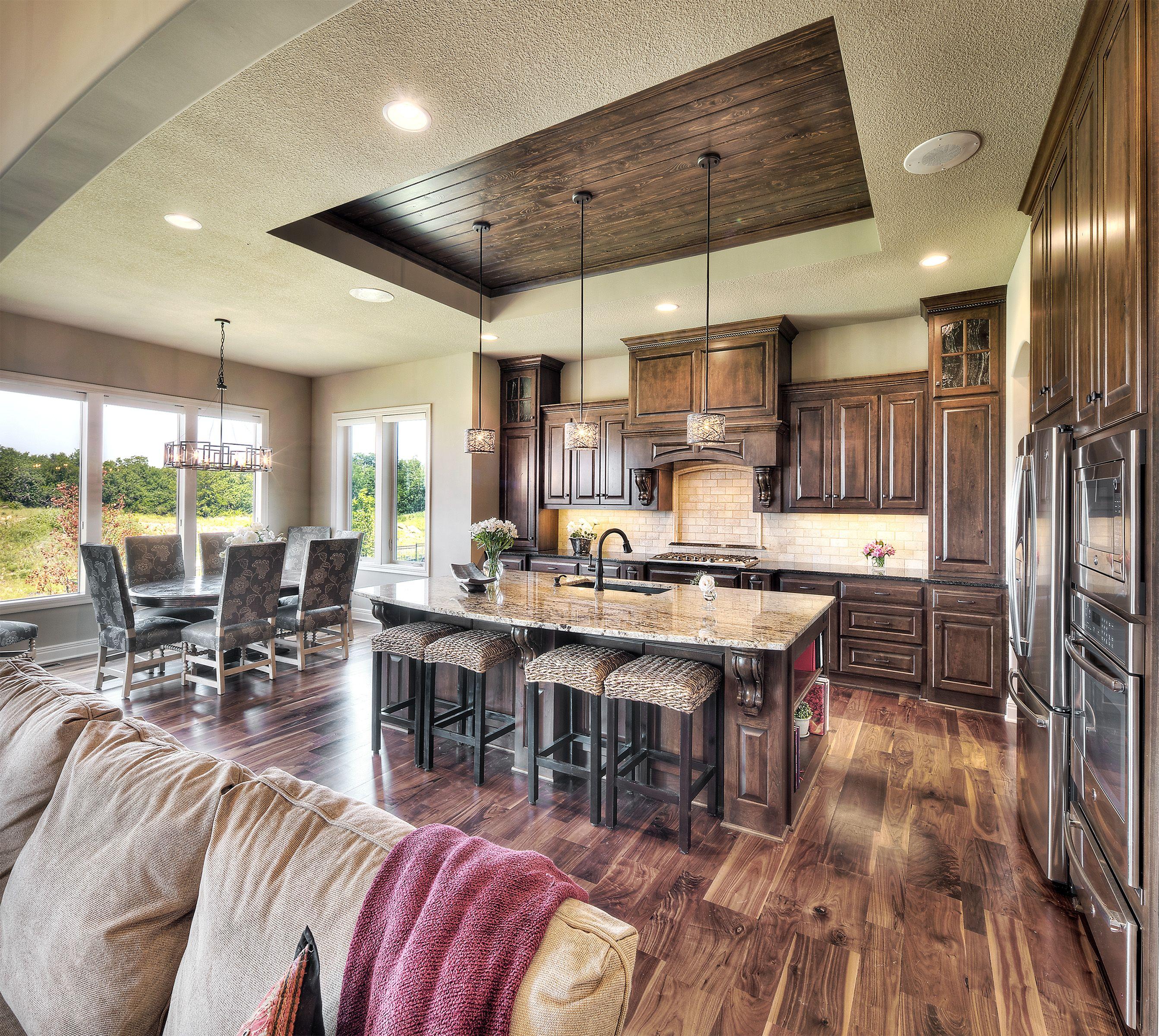 Overhead Kitchen Cabinet 2019: Kitchen: Vaulted Ceiling, Kitchen And Dining, Dark