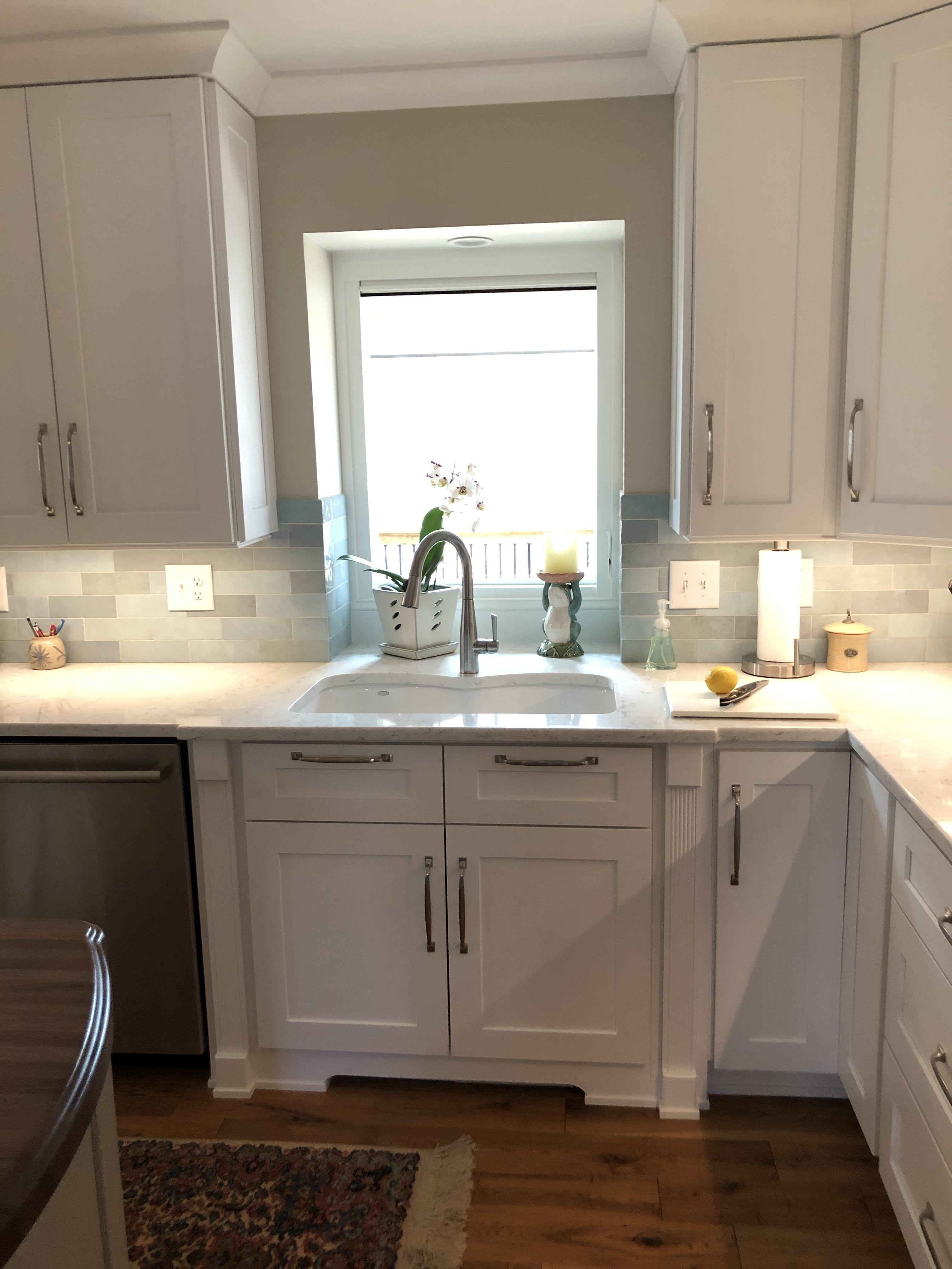 Sink Base With Fluted Pilasters And Dual Tilt Out Trays Kitchen Cabinets Kitchen Design Kitchen