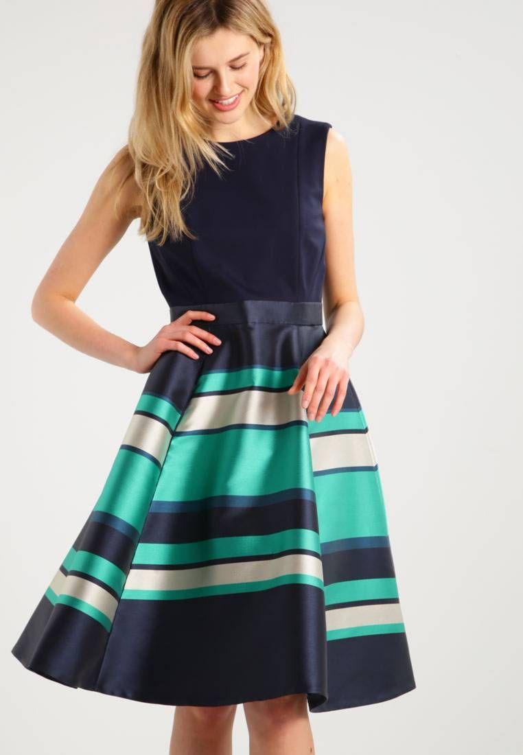 BELLA - Cocktailkleid / festliches Kleid - navy/multi