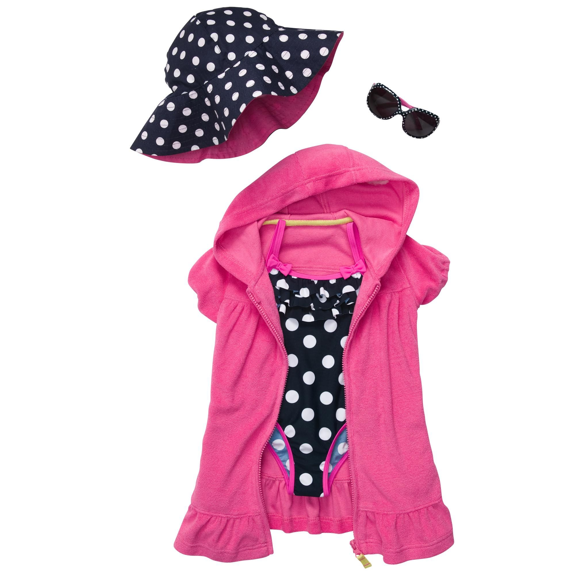 """""""spotted"""" at the pool girls swim outfit. #carters"""