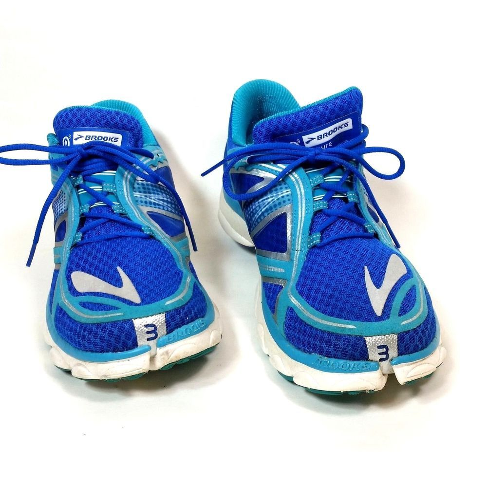 35d179edce6 Brooks PureFlow 3 Womens Running Sneakers Blue Athletic Shoes Size 10 B USA   Brooks  Running