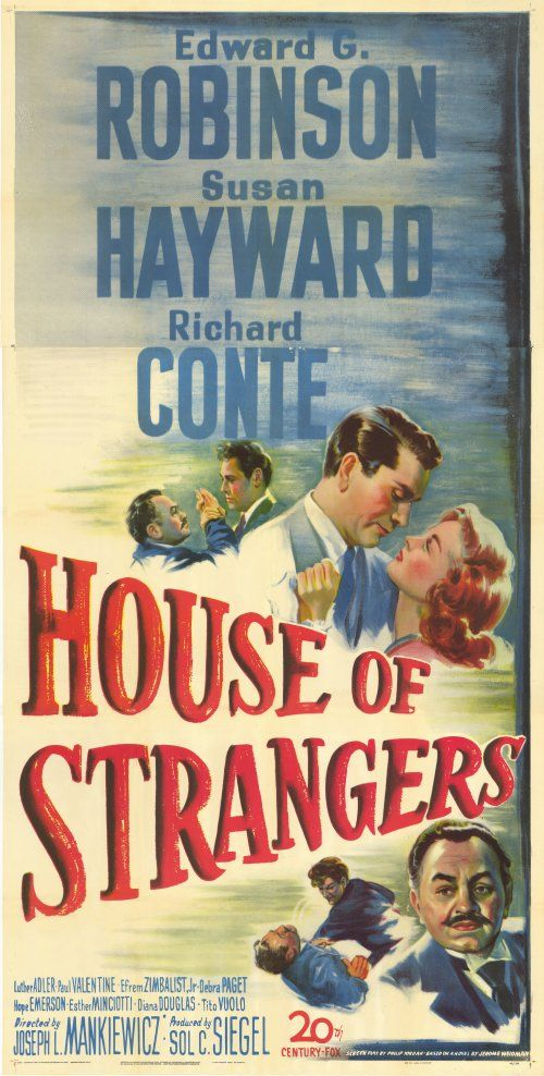 House Of Strangers Movie Posters From Movie Poster Shop Movie Posters Susan Hayward Richard Conte
