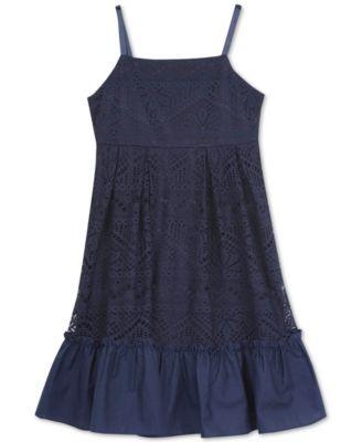 f58cb200051 Rare Editions Little Girls  Navy Lace Sundress