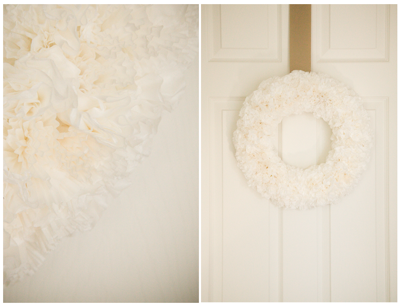 The always popular, fluffy decor made with coffee filters &/or cupcake liners.  I'm personally a fan of this combo option; very pretty. -KWA
