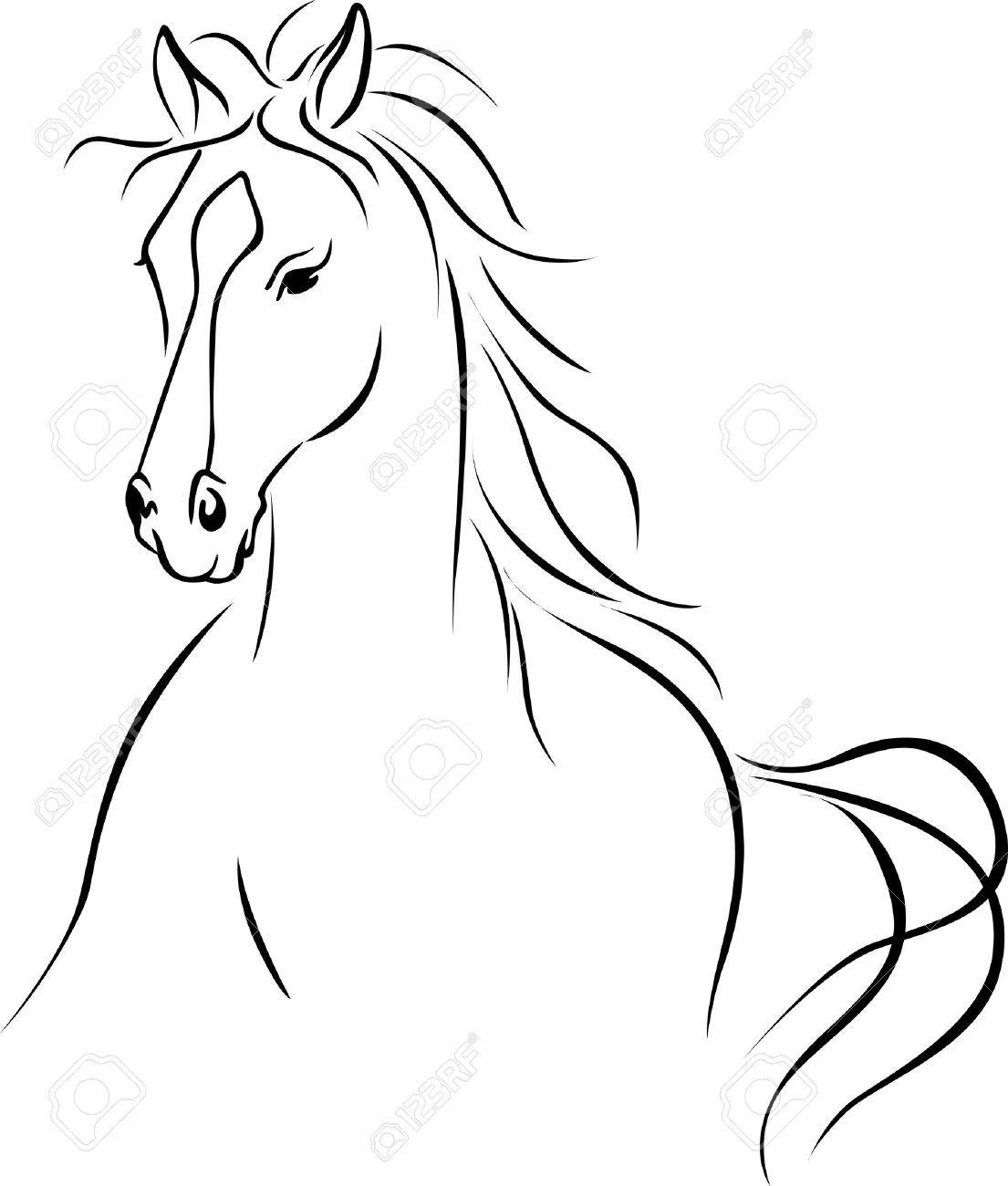 Kleurplaat Paardenhoofd Sinterklaas Images Vector Free Horse Drawing Google Search In 2019
