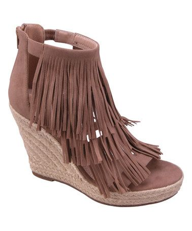 Love this Stone Fringe Shiloh Wedge on #zulily! #zulilyfinds