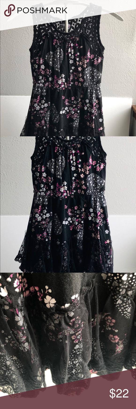 Epic Threads Black Floral Girls 4t Floral Dress Black Skater Style Dress Floral Dress [ 1740 x 580 Pixel ]