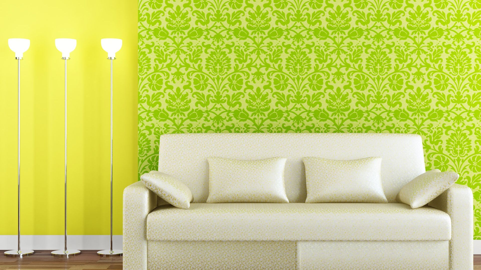 sofa, lamps, wall - http://www.wallpapers4u.org/sofa-lamps-wall ...