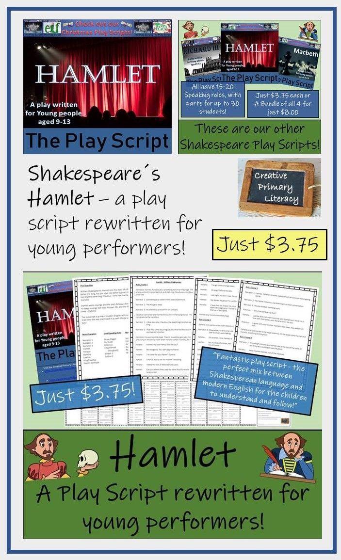 Hamlet Play Script Middle School History Primary Literacy Reading Activities [ 1155 x 703 Pixel ]