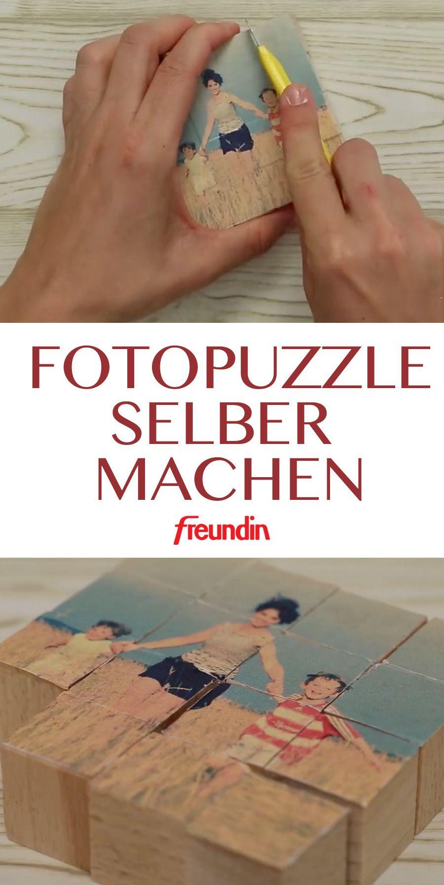 Diy Geschenk Fotopuzzle Selber Machen Diy Hochzeitsgeschenke
