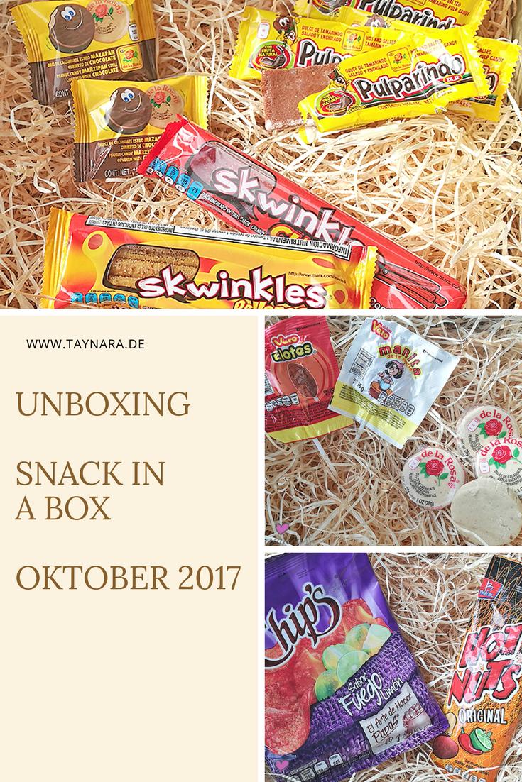 Die Snack in A Box bietet viele Süßigkeiten und Knabberein aus verschiedenen Ländern. Diesmal ist es Mexiko und viele scharfe Produkte erwarten einen. Das Unboxing der ersten Box gibt es auf meinem Blog.