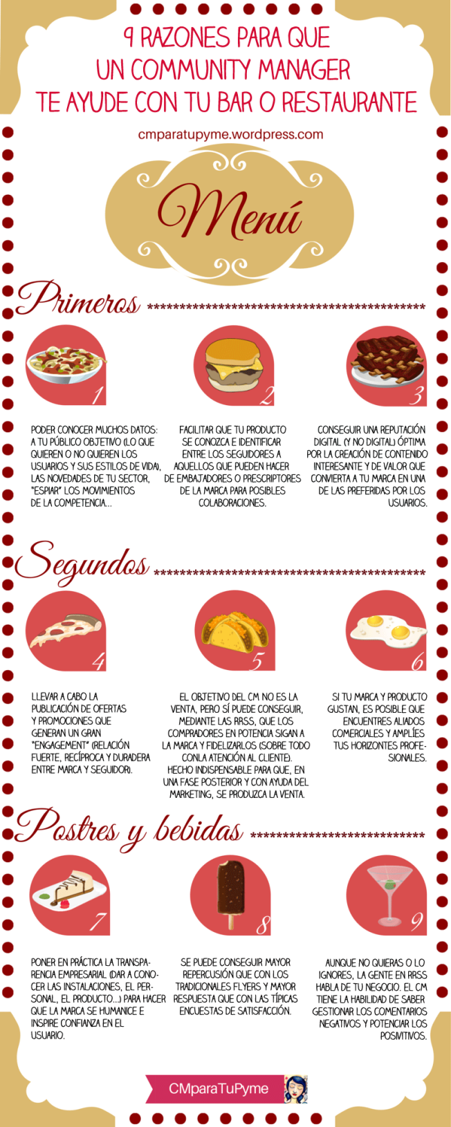 #Infografia 9 razones para que un Community Manager te ayude con tu bar o restaurante via @CMparaTuPyme