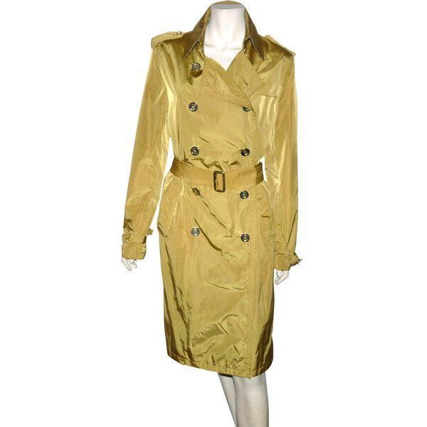 depot vente de luxe en ligne burberry trench léger en nylon moutarde - On  sale eshop 7fd4f51003bf