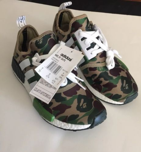 huge selection of 4a21e 8f6c8 Brand new Adidas NMD R1 x Green Camo Bape Size 9.5