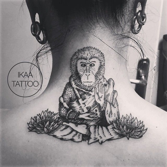 b2a6904c18f52 meditating monkey tattoo | Tattoo Designs | Monkey tattoos, Tattoos ...