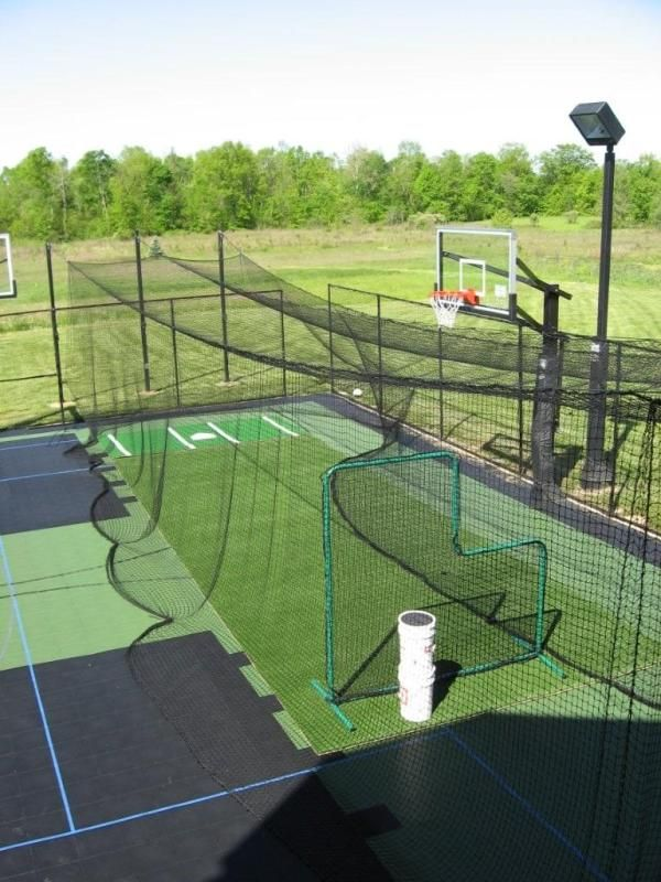 South Florida Outdoor Multipurpose Courts Batting Cage