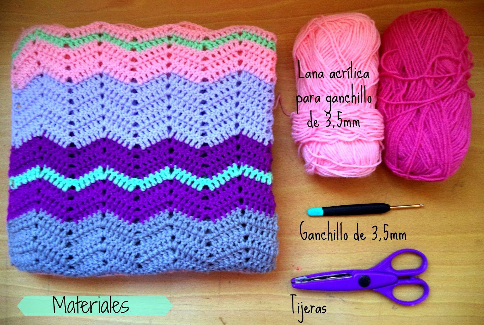 patrón manta zigzag | mantas de ganchillo | Pinterest | Patrones ...