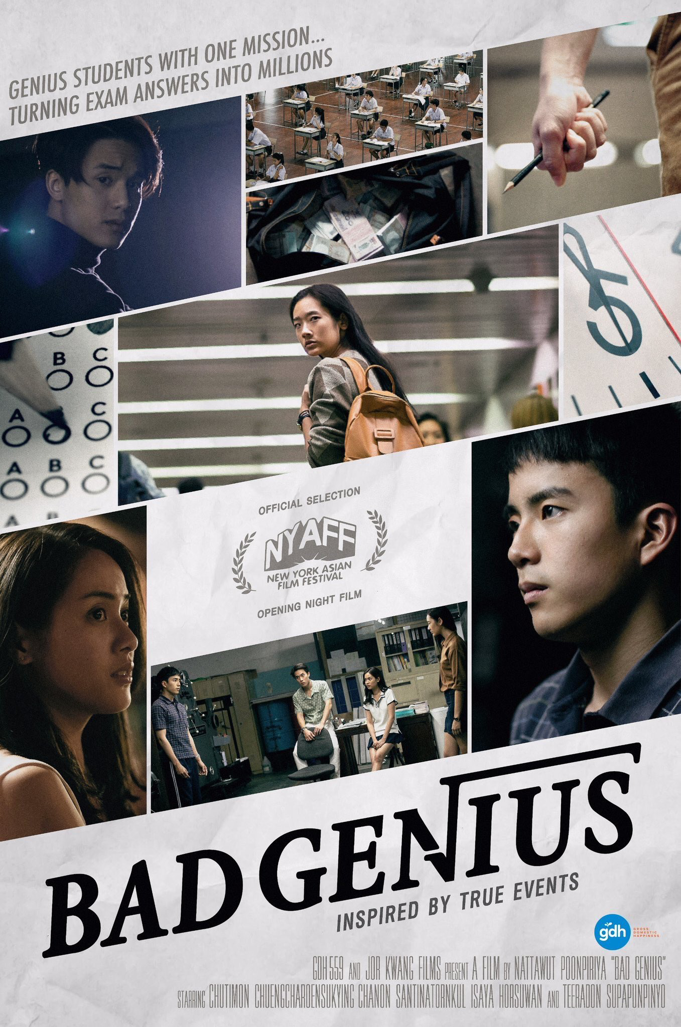 Typography Poster, Bad Genius, Asian, Movies, Comic, Trash Bins, Man