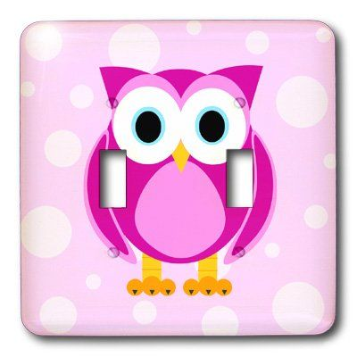 3drose Llc Lsp 6313 2 Cute Pink Owl On Light Pink Background Double Toggle Switch Click Image To Review More Details Pink Background 3drose Toggle Switch
