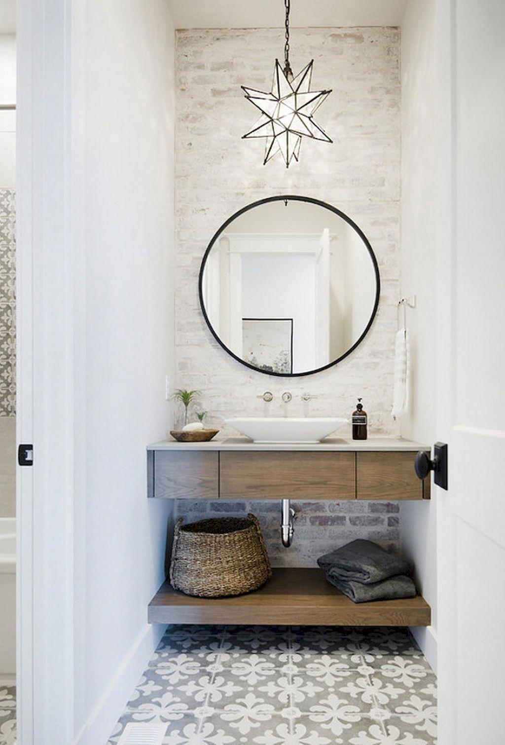 47 Romantic Farmhouse Bathroom Vanity Ideas # ... on Rustic Farmhouse Bathroom Tile  id=26239