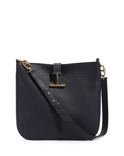 Tom Ford Grained Leather T Clasp Crossbody Bag Tomford Bags Shoulder