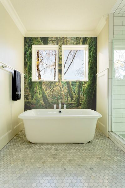 Bring The Outdoors In With These Nature Wall Murals Bathroom Wallpaper