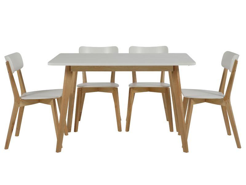 Jídelní stůl Corby, 120 cm bříza / bílá - 2