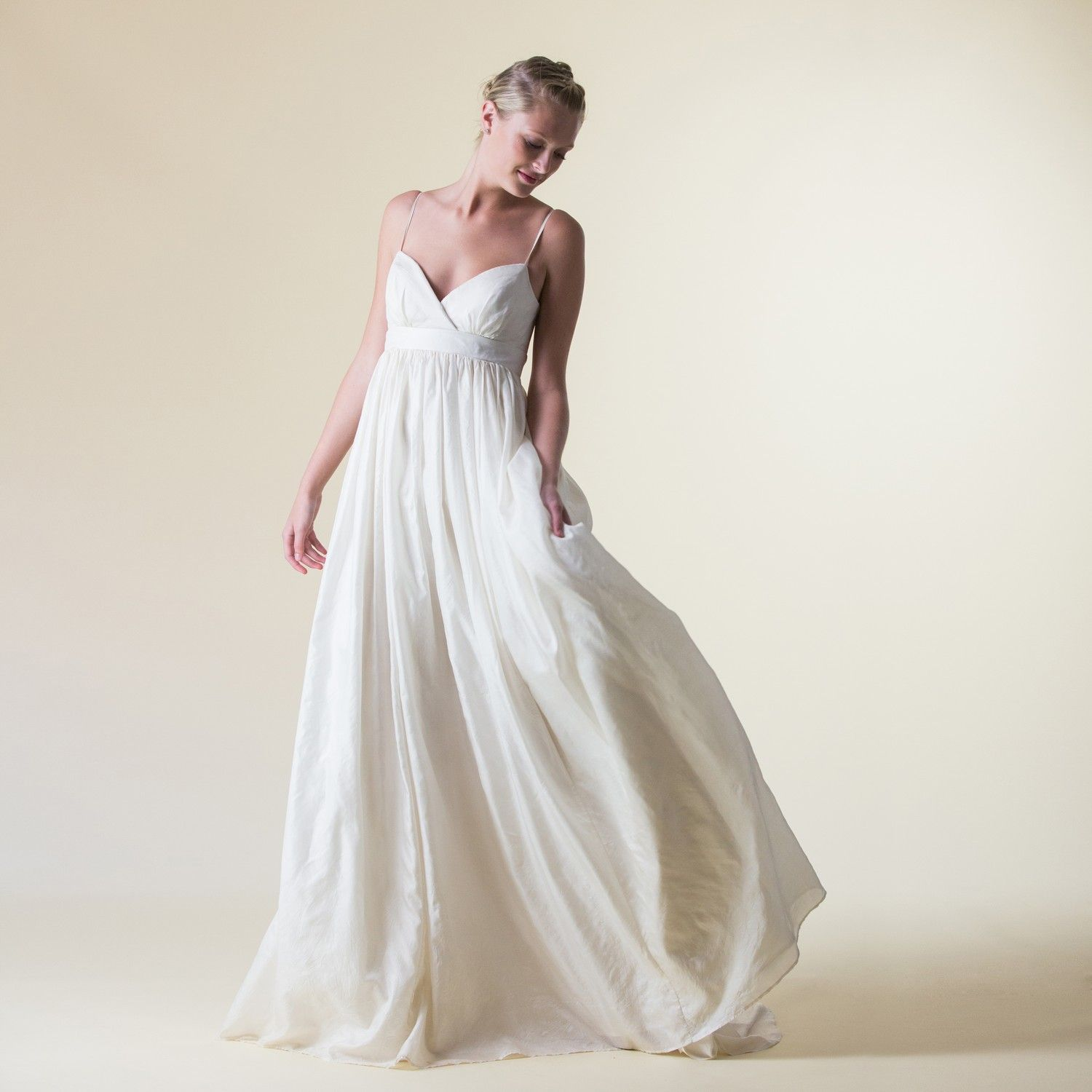 An exquisitely ethical wedding dress in heirloom eco silk the