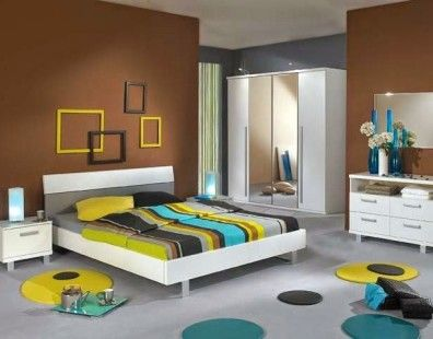 ruangan sempit warna cat kamar tidur minimalis