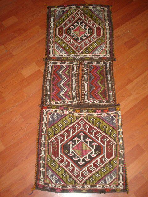 c23f329713 antique unique turkish cicim horse camel saddle bag kilim carpet hand made # Turkish