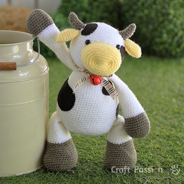 Moomoo Cow Amigurumi Free Pattern Tutorial Amigurumi Cow And